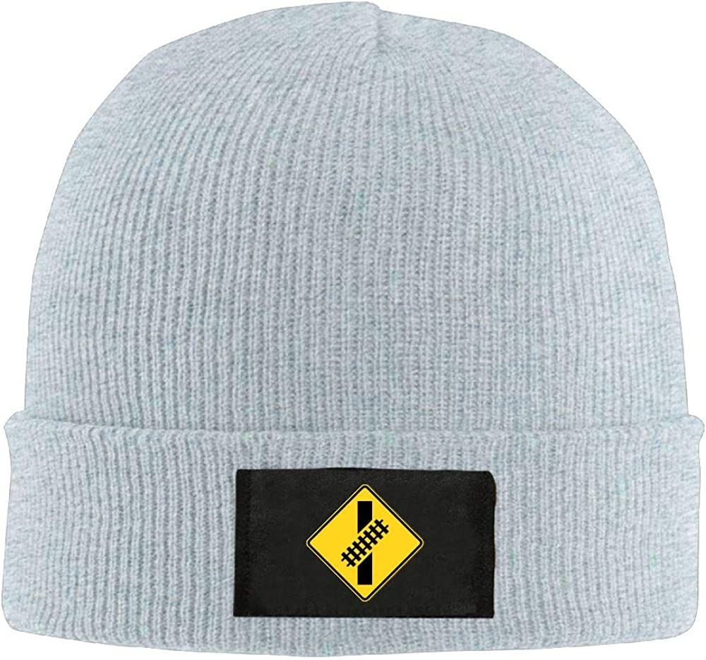 DLOAHJZH-Q Adult Unisex Train Signs Casual Knitted Hat