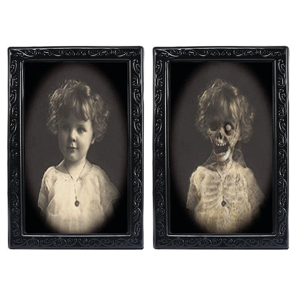 Umiwe 3D Face changing ritratto Stereograph spaventare immagine Horrible foto horror gadget per gothic tema Halloween party fasi propriet/à
