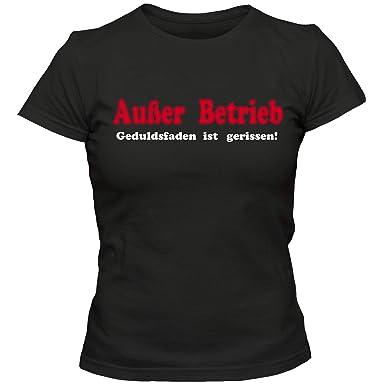 AUSSER BETRIEB - T-Shirt Funshirt Sprüche Geschenk 2 GEDULDSFADEN IST...