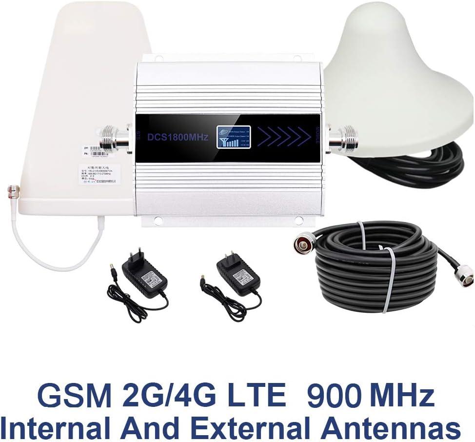 Individual Booster para teléfonos celulares Pantalla LCD gsm DCS CMDA repetidor 1800/900/850 MHz Set 2/3 / 4G móvil Celular Amplificador de señal de ...