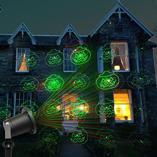 Poeland Halloween Outdoor Lights Laser Lights Garden Projector Light Red and Green