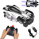 Remote Control Car, Gravity Defying 360 Degree Rotating Stunt RC Car with LED Light, Wall & Land Dual-Mode Toy Car for Kids.