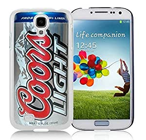 coors light beer can White Samsung Galaxy S4 I9500 Hard Plastic Phone Cover Case