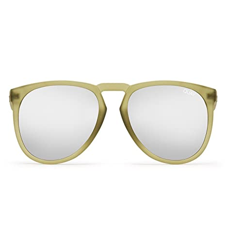 24bd780aab Image Unavailable. Image not available for. Color  Quay Australia PHD Men s  Sunglasses Oversized Aviator Sunnies - Olive Silver