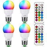 RGB LED Light Bulb, Color Changing Light Bulb, 40W Equivalent, 450LM, 2700K Warm White 5W E26 Screw Base RGBW, Flood…