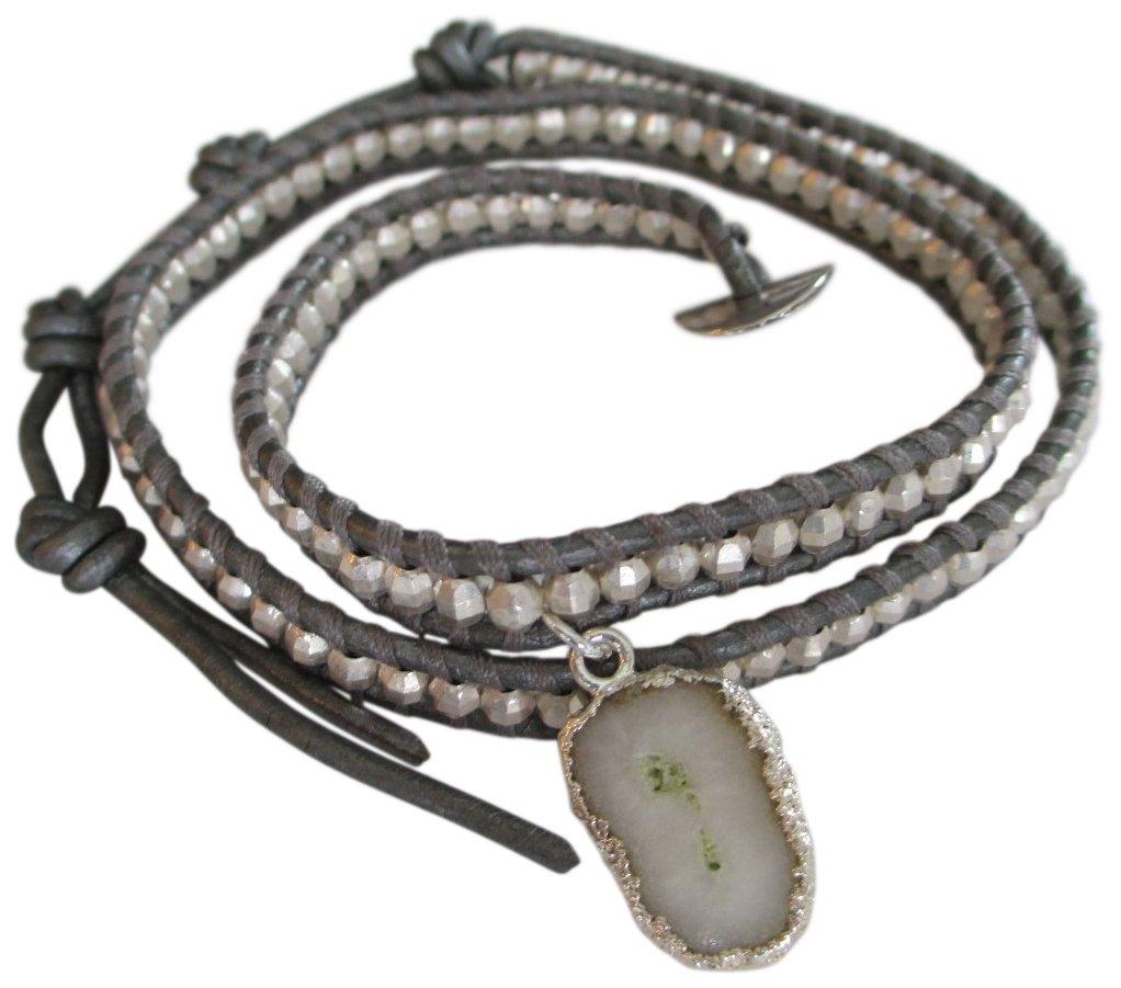 Chan Luu Double Solar Quartz Charm Wrap Bracelet by Chan Luu (Image #2)