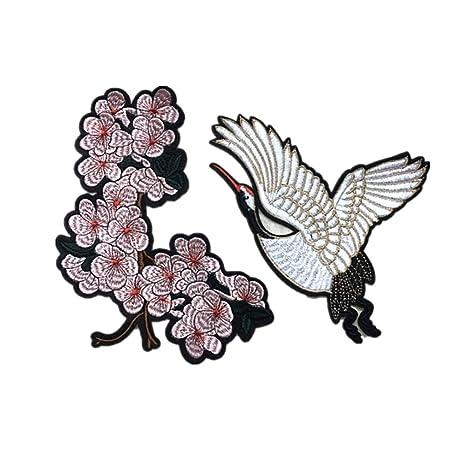 Gespout.1 Juego Bordado Xianhe Abrigos de Tela Bordados Accesorios Decorativos Flor Parche Pegatina Pulpa