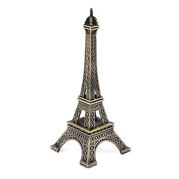 Sourcingmap® Metall Paris Frankreich Souvenir Mini Eiffelturm Modell 10cm  Bronze Ton
