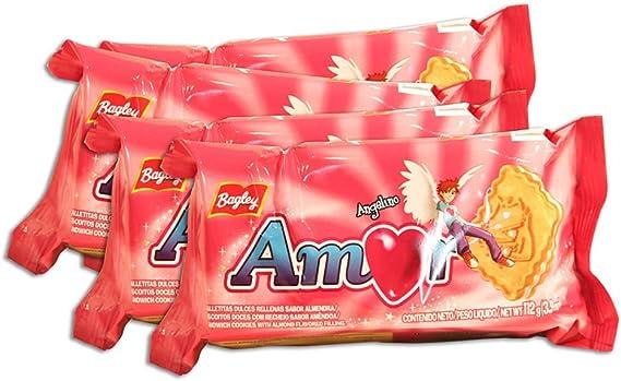 PACK de 4 paquetes de Galletitas AMOR de BAGLEY. Galletitas Dulces ...