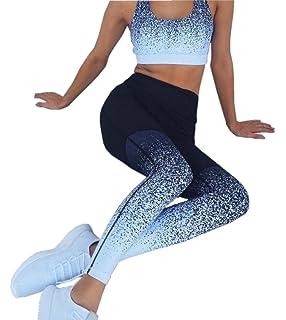 92660ffa3a02 Women's Tie Dye Two Pieces Outfit Racerback Bra Crop Top Sport Yoga  Leggings Workout Suit Set