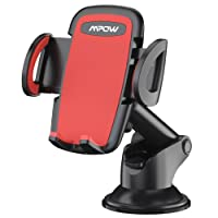 Phone Holder for Car, Mpow Dashboard Phone Mount with Telescoping Long Arm, Cars Mount with Strong Suction Cup and Quick Release Button Car Cradle for iPhone X/10 8 7 6 6 Plus 5 Galaxy Samsung S9 S8 S7 Nexus HUAWEI P20 and Others