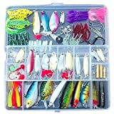 Fishing Lures Spinners Plugs Spoons Soft Bait Pike Trout Salmon+Box Set Fishing Tackle with Fishiness 100Pcs