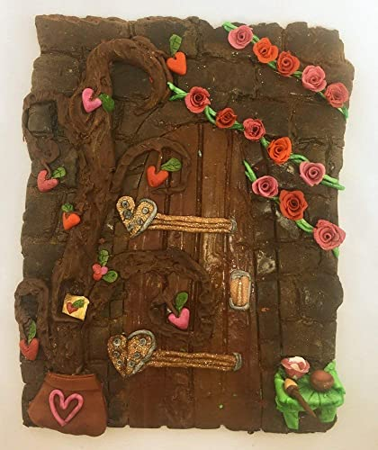 b0f6185dae2 Amazon.com  Valentine s Day Garden Fairy Door Secret Polymer Clay ...