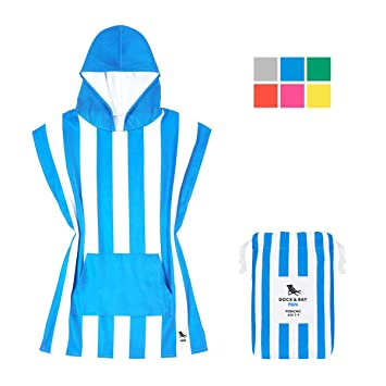 078010312f Microfibre Kids Poncho with hood, Quick Dry Hooded Towels for Swim, Beach &  Pool. Compact & Lightweight, packs into its own drawstring beach bag. ...