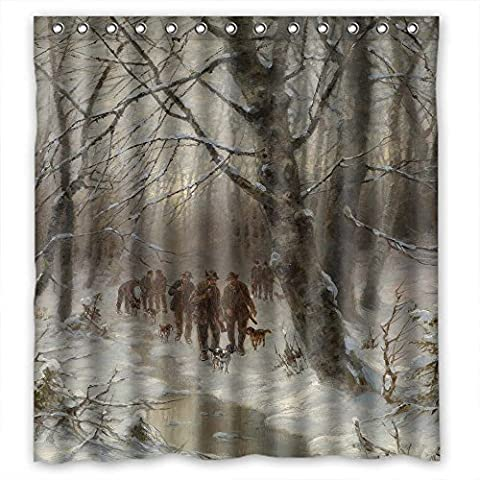 MaSoyy Width X Height / 72 X 72 Inches / W H 180 By 180 Cm Polyester Beautiful Scenery Landscape Painting Bath Curtains Fabric Is Fit For Him Kids Girl Bf Kids Birthday. Anti (The Nanny With The Skull)