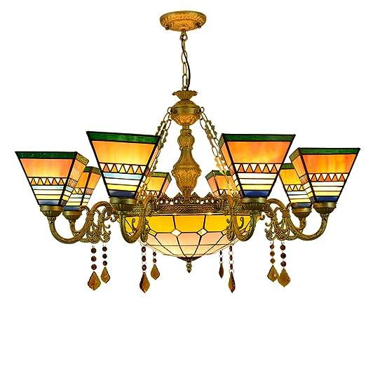 Pirámide del estilo de Tiffany de la lámpara del vidrio manchado ...