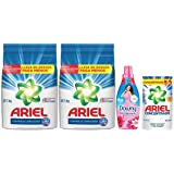Ariel + Downy Detergente en Polvo, 10 kg, Floral Suavizante, 800 ml y Ariel Líquido, 400 ml
