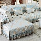 HDVHXVHJWCXHXF Non-Slip Fabric Sofa Cushion/European Style,Four Seasons of Solid Wood, Sofa Cover Towel/Sofa Cushions-C 90x210cm(35x83inch)