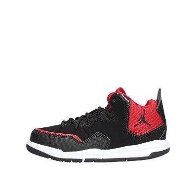 61ab4f3f10f Jordan Kids Courtside 23 PS Black Black Gym RED Size 1