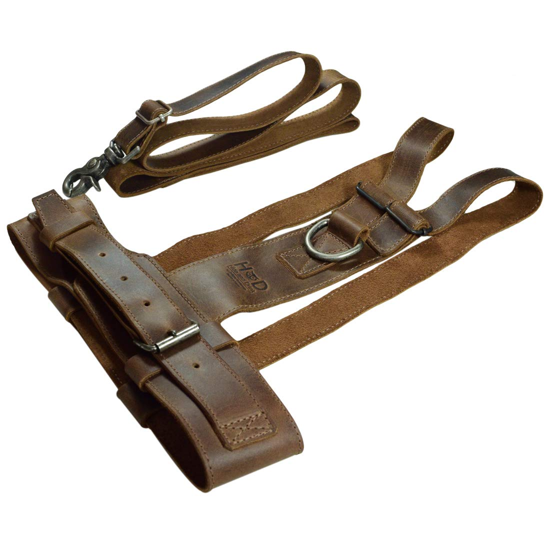 Handmade Includes 101 Year Warranty :: Bourbon Brown Walking Baby Anti-Lost Belt Child Safety Chest Size 9-11 in Leather Toddler Harness Hide /& Drink