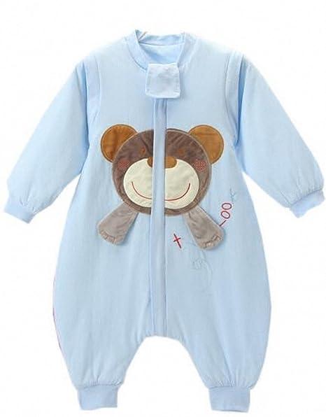 ca0361fde6 Baby schläf Saco invierno con patas Niños schlafanzug baumwollen Niño Niña Manga  Larga Pijama Mono