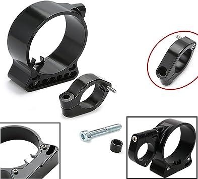 plata Kit de soporte de reubicaci/ón de montaje lateral de veloc/ímetro de horquilla de 39 mm Soporte de veloc/ímetro de montaje lateral de aluminio CNC