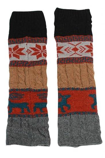 De punto forro polar rodillera botas calcetines calentadores de la pierna (ysw83 ...