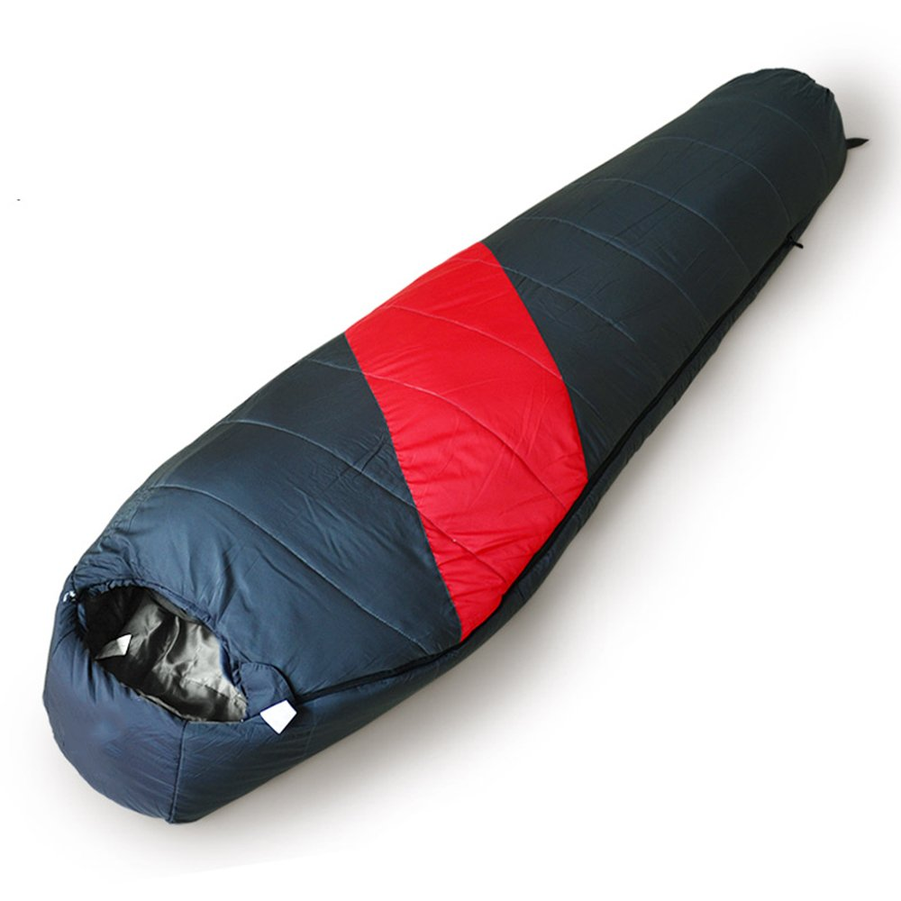 ZXQZ Saco de dormir momia/Algodón/Splicable/Adult Outdoor Camping Thicken Saco de dormir 4 Season (2 colores disponibles) (210 * 80cm) Saco de dormir momia ...