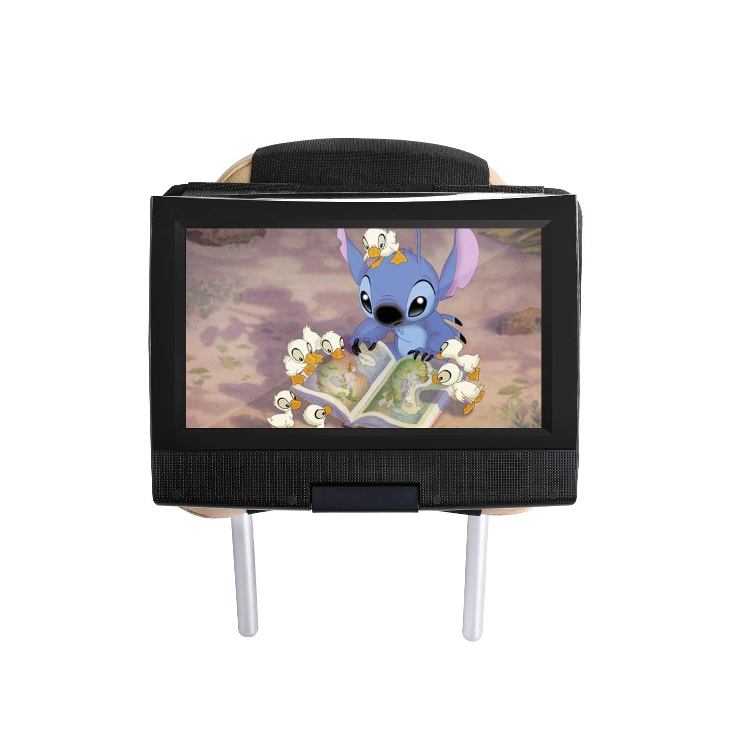 Hikig Car headrest Mount for 7 to 11 inch Swivel & Flip Style Portable DVD Player - Black