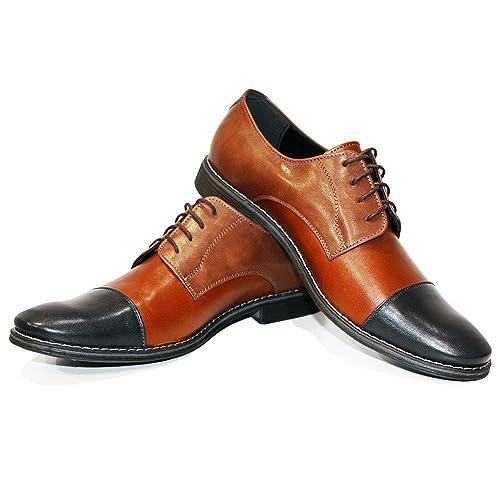 a544982a6d Modello Canvo - Cuero Italiano Hecho A Mano Hombre Piel Marrón Zapatos  Vestir Oxfords - Cuero Cuero Suave - Encaje: Amazon.es: Zapatos y  complementos