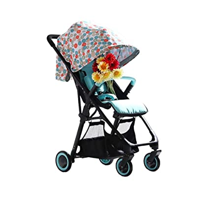 XnZLXS-Cochecitos Alto Paisaje Plegable Baby Trolley Ultraportable Simple a Prueba de Golpes Paraguas Coche