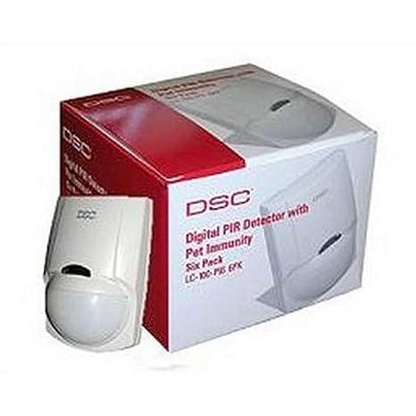 Pack de 6 detectores de movimiento inmunidad animales DCS lc-100pi