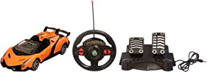 Racing Car with Remote Control for Kids - Orange