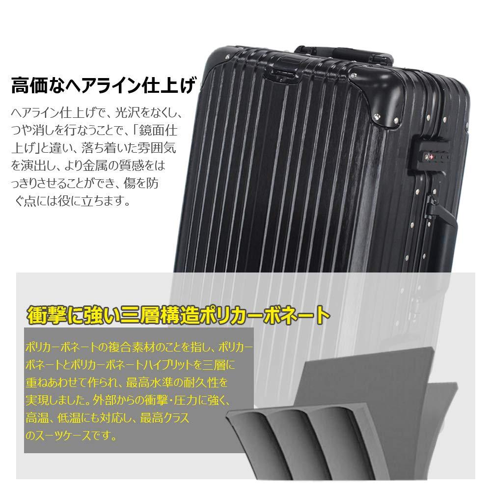 bb6c78854e Amazon   スーツケース キャリーケース キャリーバッグ アルミフレーム 軽量 静音 TSAロック搭載 日本語取扱説明書 1年安心保証  iDeer Life   iDeer Life   スーツ ...