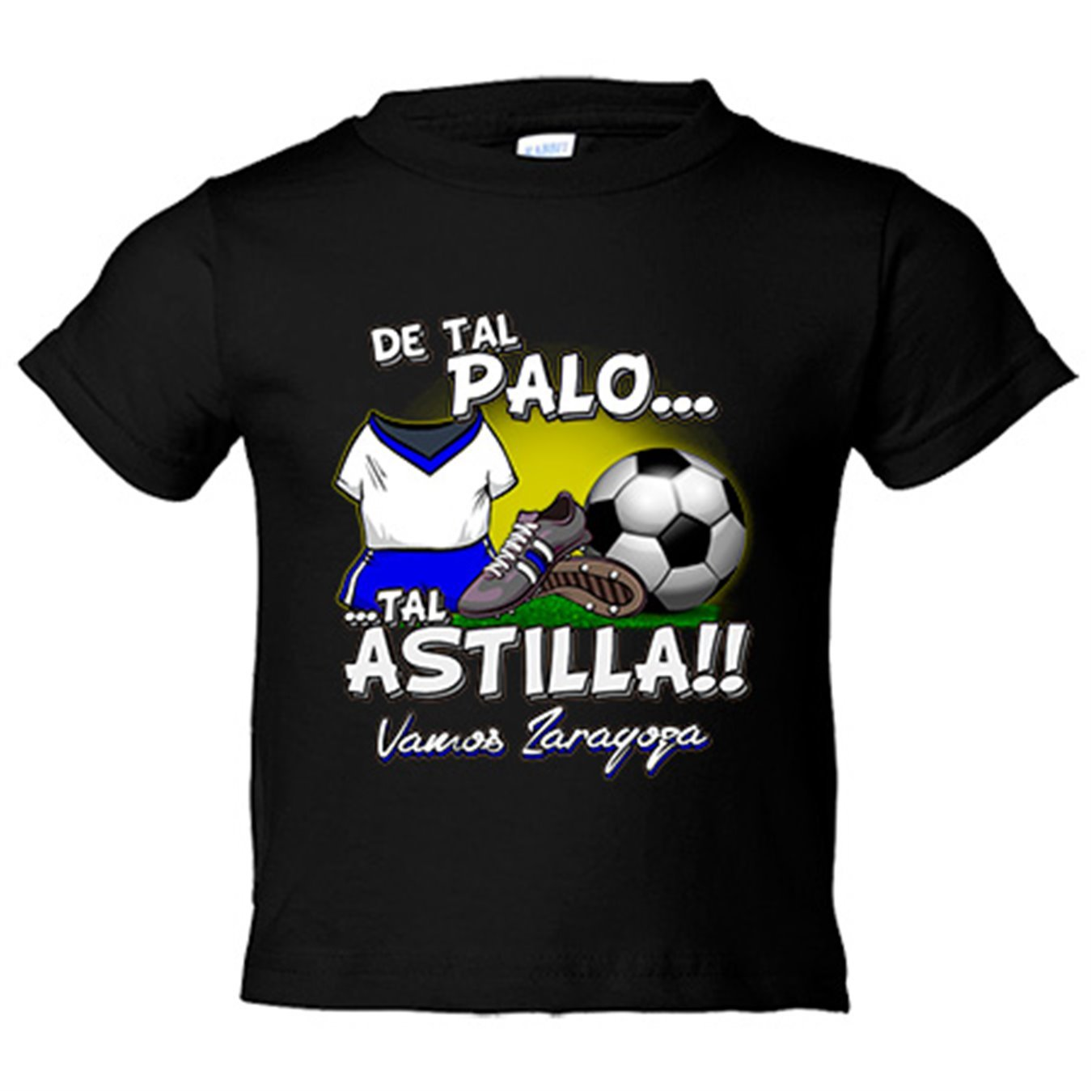 Camiseta niño De tal palo tal astilla Zaragoza fútbol - Amarillo, 3-4 años: Amazon.es: Bebé