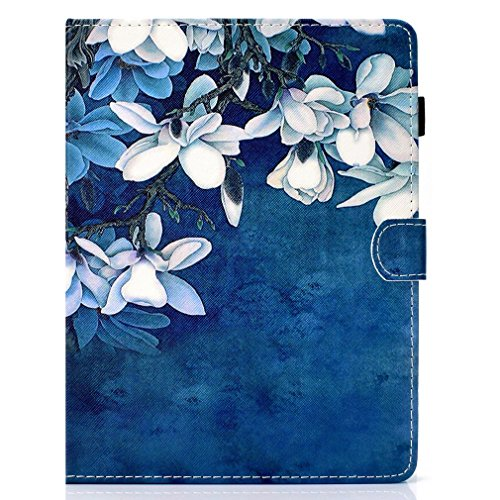 Inch Slot Tablet Case Foldable Inch Thin PU All Stand Tablet of Magnolia 8 Closure Ultra Purpose LMFULM® General Color Case Case 8 for Card Magnetic Pattern 7 Bookstyle For Leather wnXxYFRqd