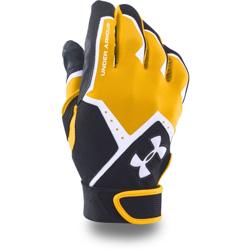 Under Armour Boys ' clean-up VIバッティング手袋 B0197MZI94 Large|Steeltown Gold/Black Steeltown Gold/Black Large