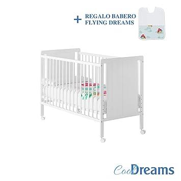 Cuna colecho de bebé Naya (5 alturas de somier) + kit colecho incluído + 4 ruedas + Babero de regalo: Amazon.es: Bebé