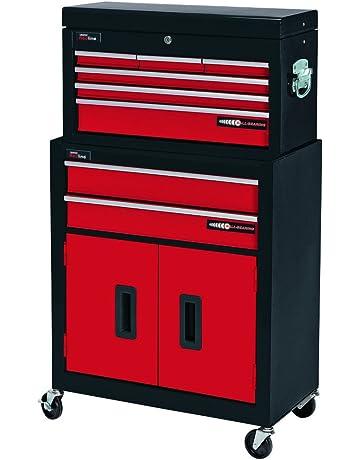 Draper 80927 - Gabinete del rodillo de 2 cajones y caja de herramientas de 6 cajones