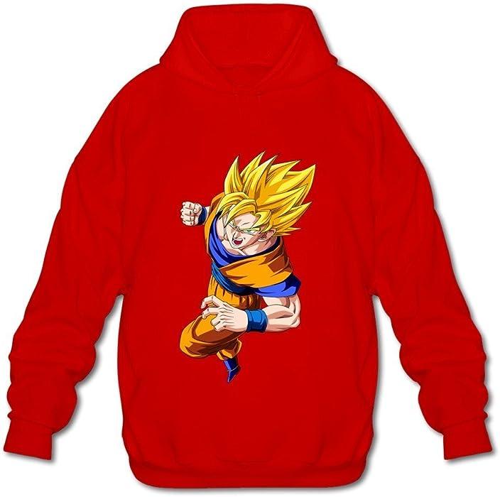 De hombre Goku Dragonball Z Manga Larga Sudaderas con capucha sudadera de fresno XXXX-L