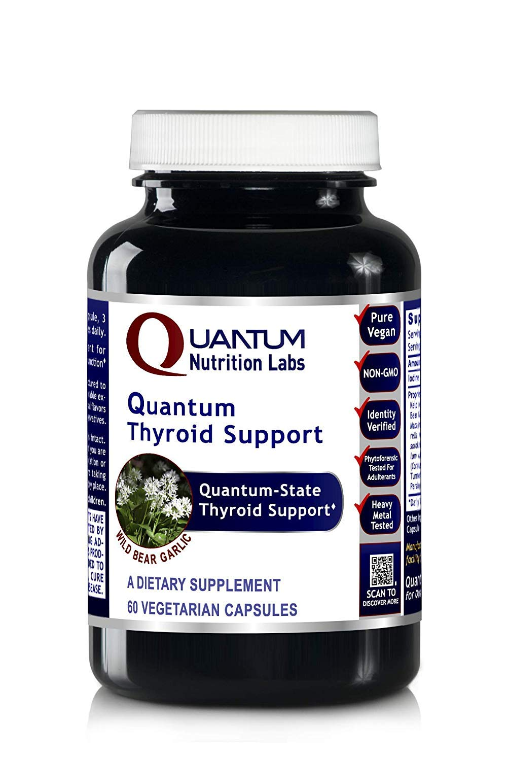 Quantum Thyroid Support, 240 Vegan Caps 4 Bottles - Quantum-State Premier Labs Thyroven Detoxification and Thyroid Support by Quantum Nutrition Labs