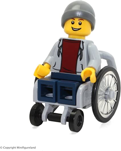 Male Patient Vehicle Hospital City Town Boy Minifigure in Wheelchair LEGO