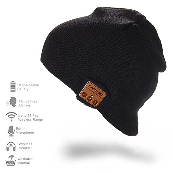 54ec0d7e7c7 CFZC Bluetooth Beanie Hat Cap Wireless Headphone Knit Winter Soft Warm Music  Hat with Stereo Speaker