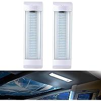 Led Interior Light Bar,12V 72LED RV Ceiling Strip Lamp with ON/OFF Switch Bright Universal Lighting for Car Camper Van…