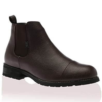 148a260dea78 Mens Rock   Religion Brown Elasticated Panels Hendrix Chelsea Boots Size 10  UK