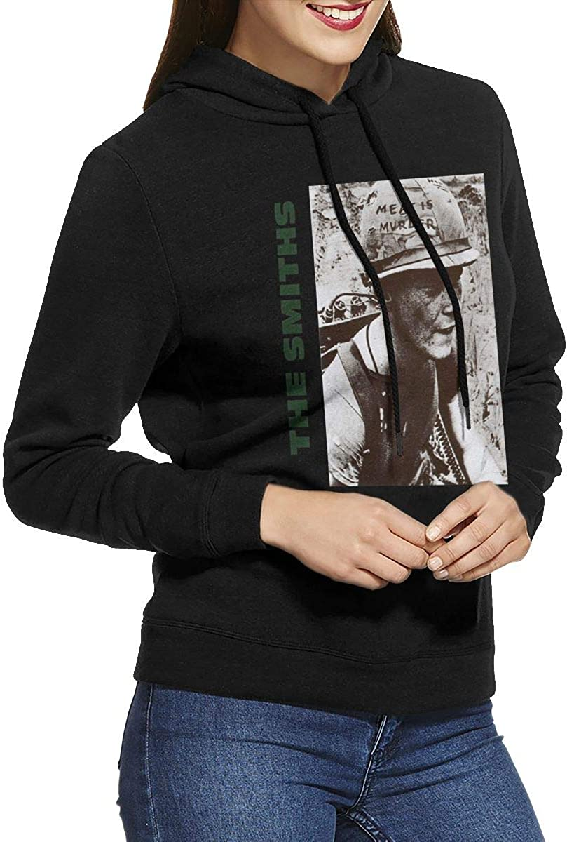 Wanjirong Womens Fleece Pullover Hooded Print The Smiths Sweatshirts