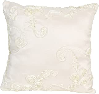 product image for Glenna Jean Central Park Pillow, Ribbon/Cream/Tan/White
