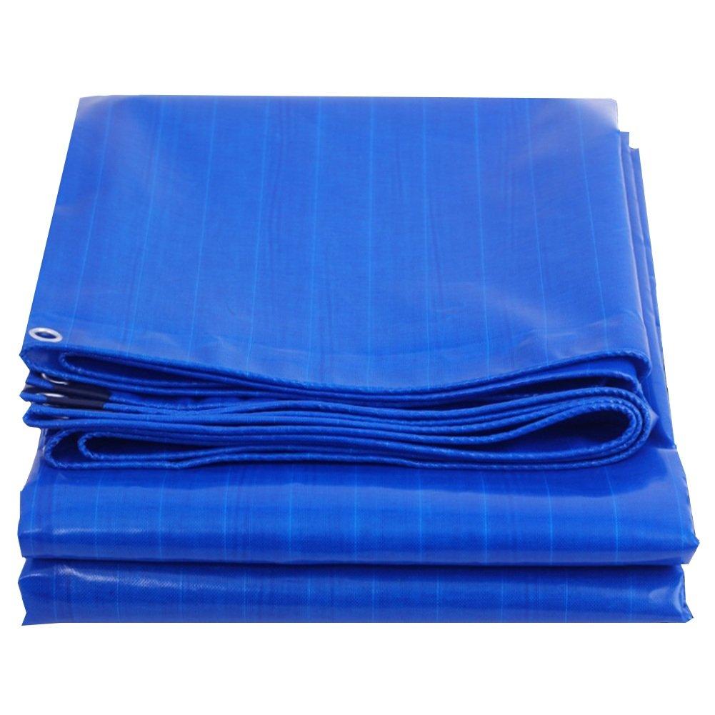 CHAOXIANG ターポリン 厚い 耐寒性 防風 キャノピー布 シェード布 トラック 車, 500G /㎡、 8サイズ (色 : Blue, サイズ さいず : 2.8x2.8m) B07FZ4TXCY 2.8x2.8m Blue Blue 2.8x2.8m