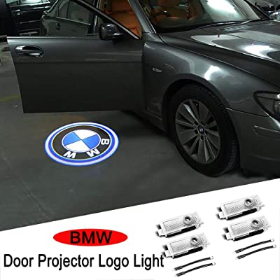Car Door Light Logo Projector Ghost Shadow Welcome Lights For BMW Compatible X1/X3/X4/X5/X6/3/4/5/6/7/Z/GT Series(4-Pack): Automotive