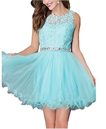 Leader of the Beauty Juniors Birthday Dress Homecoming Dress Short Cocktail Dresses Blue UK 6